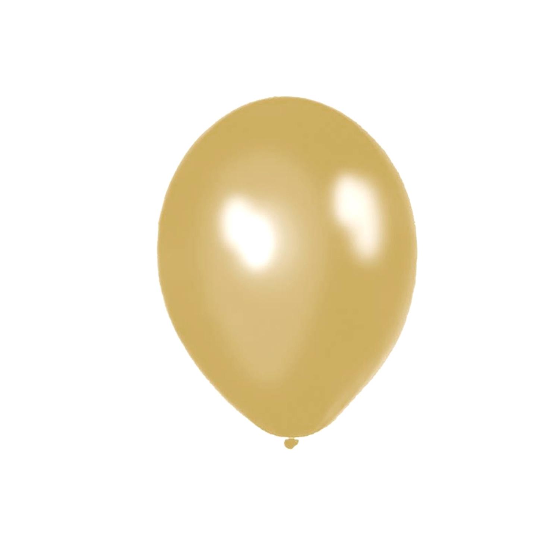 ATOM 12 İNÇ Metalik Gold (altın) Balon - 100 ADET