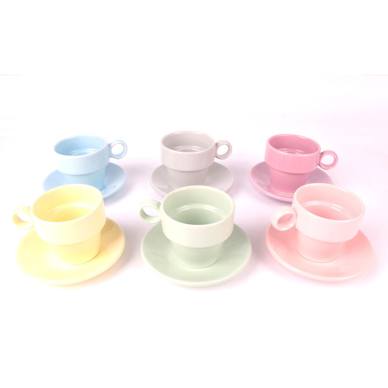 Keramika Joker 6 Renkli 12 Parça Fincan Takımı