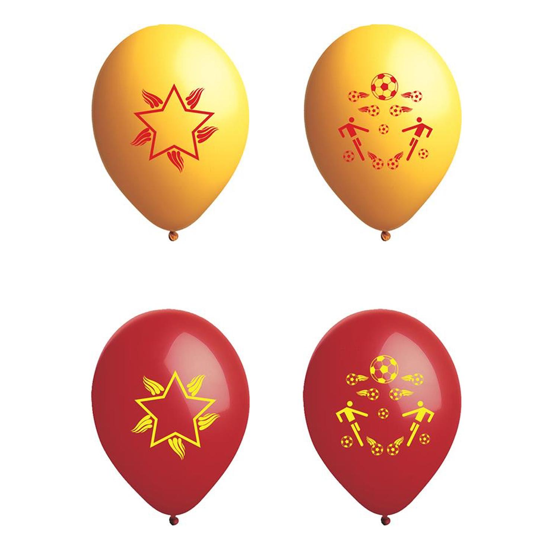 Atom Taraftar Balon Sarı Kırmızı 12 İnç 100 Adet
